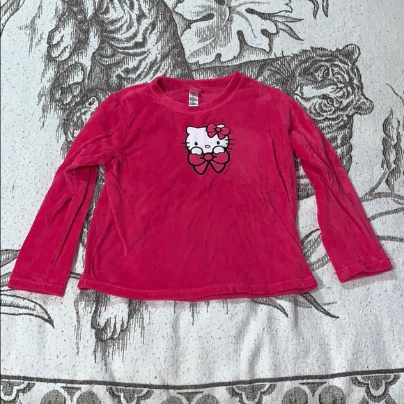 Hello Kitty Other - Fuzzy Hello Kitty pajama top